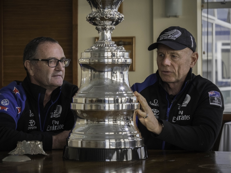 25/6/18- The America's Cup is dismantled at the Royal New Zealand Yacht Squadron to send to Garrads in the UK for a refit and engraving of the 35th America's Cup results from 2017